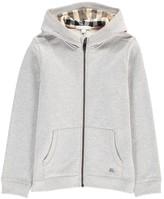 Burberry Zip-Up Pearcy Hooded Sweatshirt