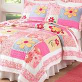 Pem America Olivia Pink Twin Quilt with Pillow Sham
