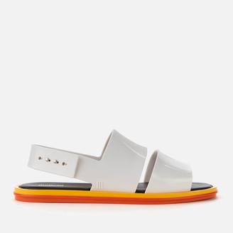 Melissa Women's Carbon Double Strap Sandals - White Contrast