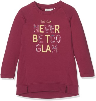 Name It Baby Girls' Nitdiolo Ls SWE Tunic Bru F Mini Long Sleeve Top