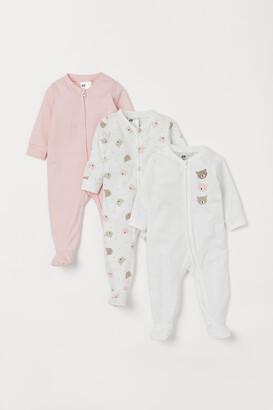 H&M 3-Pack Zip-Up Pyjamas