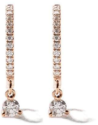As 29 AS29 18kt rose gold Mini Charm Drop Hoop diamond earrings