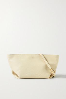 KHAITE Envelope Pleat Textured-leather Shoulder Bag - Cream