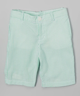 E-Land Kids Mint Seersucker Shorts - Boys