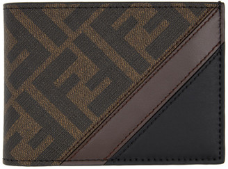 Fendi Black and Brown Forever Bifold Wallet