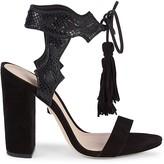 Schutz Hilda Suede & Leather Heeled Sandals
