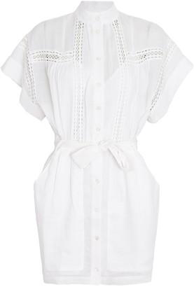 Frame Twisted Pleat Mini Dress