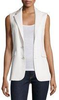 Ralph Lauren Button-Front Vest, Cream