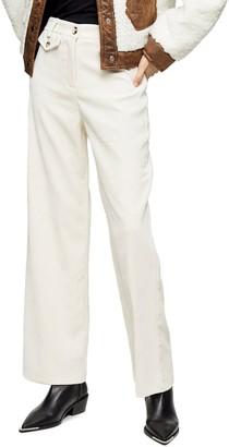 Topshop Corduroy Wide Leg Trousers