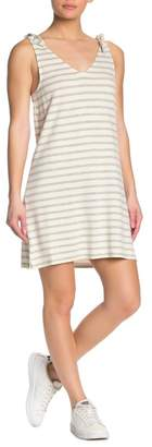 Cupcakes And Cashmere French Terry Striped Dress