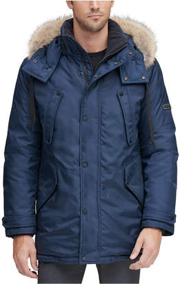 Andrew Marc Men Lafayette Four Pocket Parka with Removable Fur Trimmed Hood