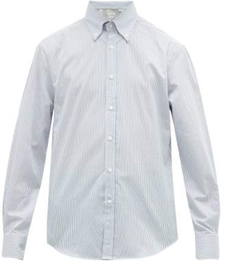 Brunello Cucinelli Striped Cotton-twill Oxford Shirt - Mens - Blue