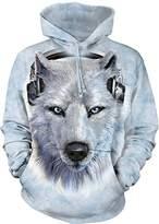 The Mountain White Wolf DJ Hoodie