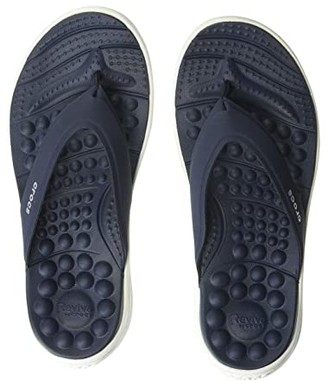 Crocs Reviva Flip (Navy/White) Women's Sandals