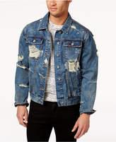 Lrg Men's Ripped Denim Jacket