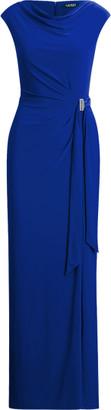 Ralph Lauren Jersey Cowlneck Evening Dress