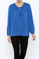 Amanda Uprichard Blue Silk Blouse