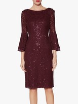 Gina Bacconi Amina Sequin Dress, Wine