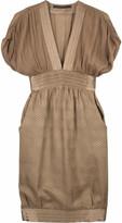 Jacquard v-neck dress