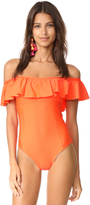 Splendid Sun-Sational Off the Shoulder One Piece