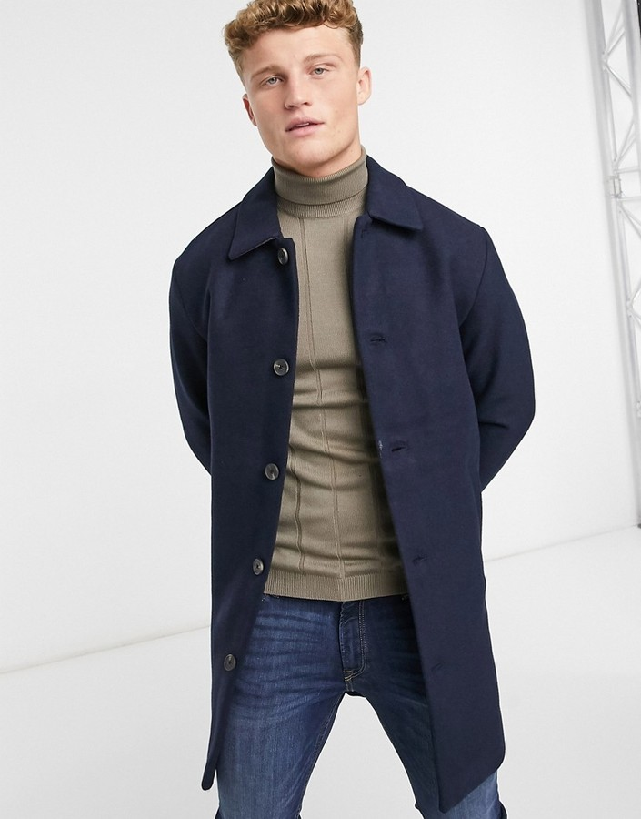 Jack /& Jones Jorblinders Wool Coat Abrigo para Hombre
