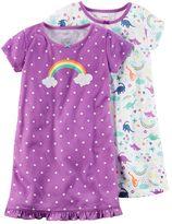 Carter's Girls 4-14 Print Nightgown Set