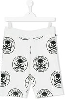 Philipp Plein skull print shorts - kids - Cotton - 14 yrs
