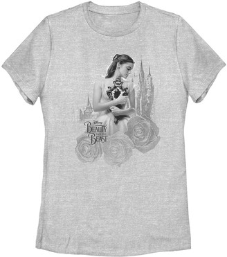 Licensed Character Disney Juniors' Beauty and the Beast Belle Logo Tee