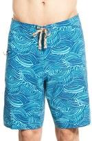 Patagonia Men's Regular Fit Wave Print Board Shorts