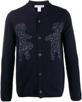 Comme des Garçons Shirt Intarsia Knit Cardigan