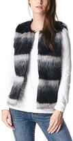 Black & Gray Ombré Faux Fur Vest