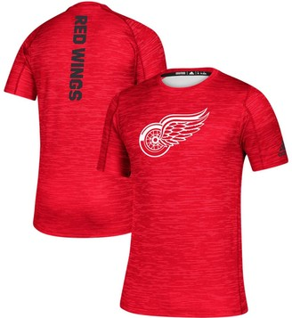 adidas Men's Red Detroit Red Wings Game Mode Training T-Shirt
