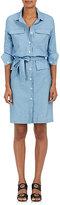 Barneys New York Women's Belted Chambray Dress-Light Blue