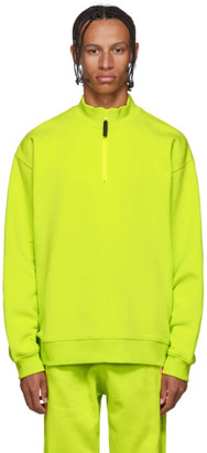 Opening Ceremony Yellow Zip-Up Sweater