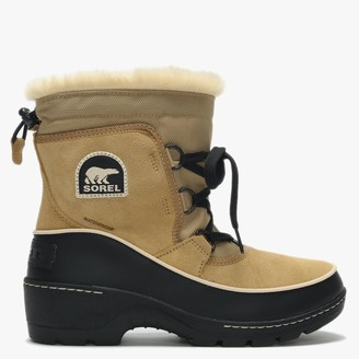 Sorel Torino Curry & Black Suede Lace Up Ankle Boots