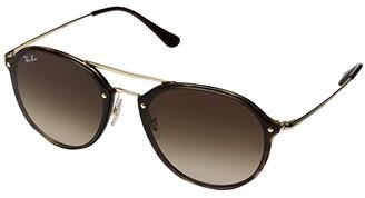 Ray-Ban RB4292N Blaze Double Bridge 62mm (Light Havana/Brown Gradient) Fashion Sunglasses