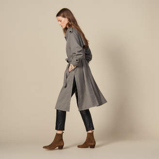 Trench coat with side slits