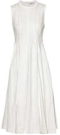 Alexander Wang Striped Cotton-Jersey Midi Dress