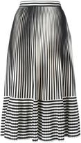 Marco De Vincenzo pleated stripes skirt - women - Silk/Polyester - 38