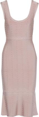 Herve Leger Fluted Metallic-trimmed Bandage Dress