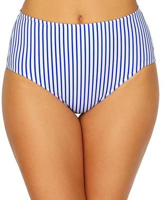 Freya Totally Stripe High-Waist Bikini Bottom