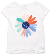 Margherita Girl's Daisy Embroidered Tee