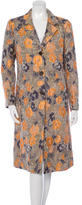 Etro Floral Jacquard Long Coat
