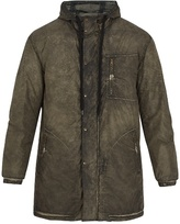 Tomas Maier Bleached-effect Hooded Coat