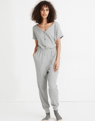 Madewell Waffle Knit Pajama Jumpsuit
