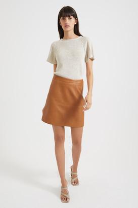 SABA Lilia Leather Mini Skirt