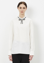 Marni lily white long sleeve corean neck shirt