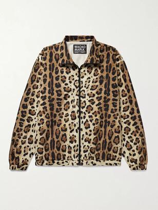 Wacko Maria Leopard-Print Shell Track Jacket