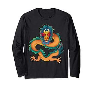 Dragon Optical Magical Gift Fearless Chinese Japanese Gift Long Sleeve T-Shirt