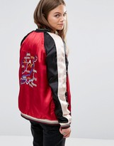 Maison Scotch Reversable Tokyo Embroidered Bomber Jacket